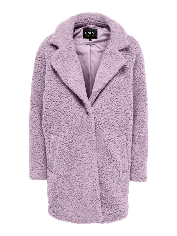 ONLY teddy coat ONLAURELIA lila, Lila