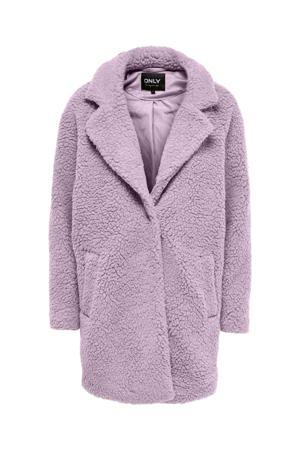 teddy coat ONLAURELIA lila