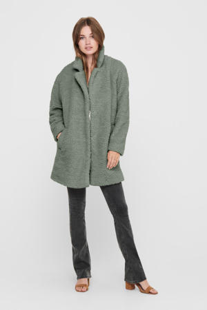 teddy coat ONLAURELIA groen