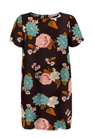 gebloemde jurk CARLUXDAZZ donkerrood/lichtroze/lichtblauw