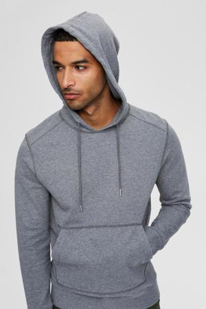 gemêleerde hoodie Jackson grijs