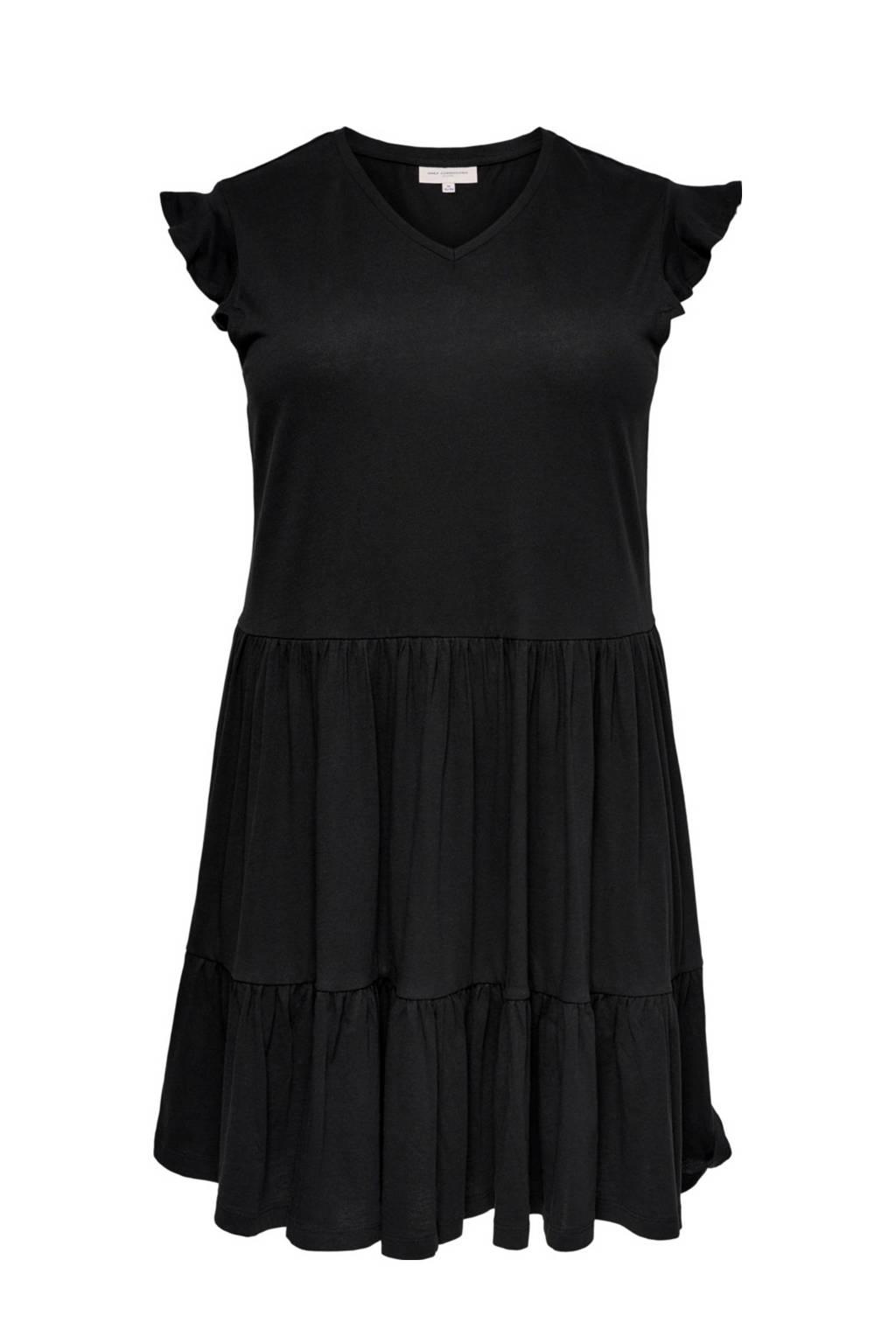 ONLY CARMAKOMA A-lijn jurk CARAPRIL van biologisch katoen zwart, Zwart