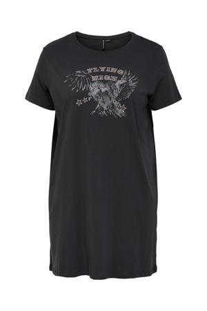 T-shirt CARGLOW van biologisch katoen antraciet/grijs/bruin