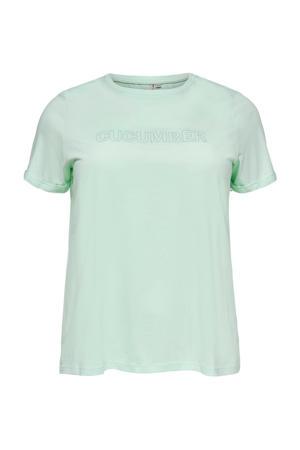 T-shirt CARMAI van biologisch katoen mintgroen