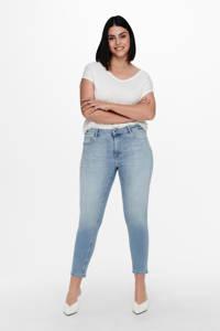 ONLY CARMAKOMA cropped skinny jeans CARWILLY blauw, Blauw