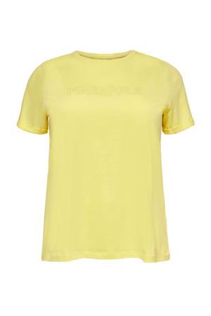 T-shirt CARMAI van biologisch katoen geel