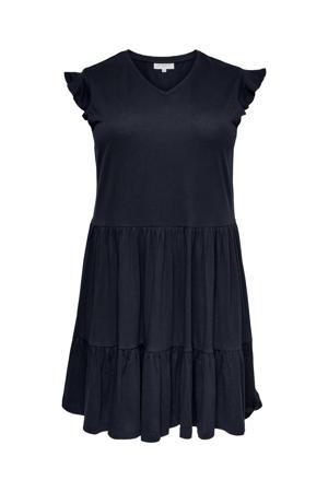 A-lijn jurk CARAPRIL van biologisch katoen donkerblauw