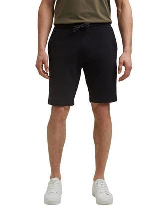 regular fit sweatshort van biologisch katoen zwart