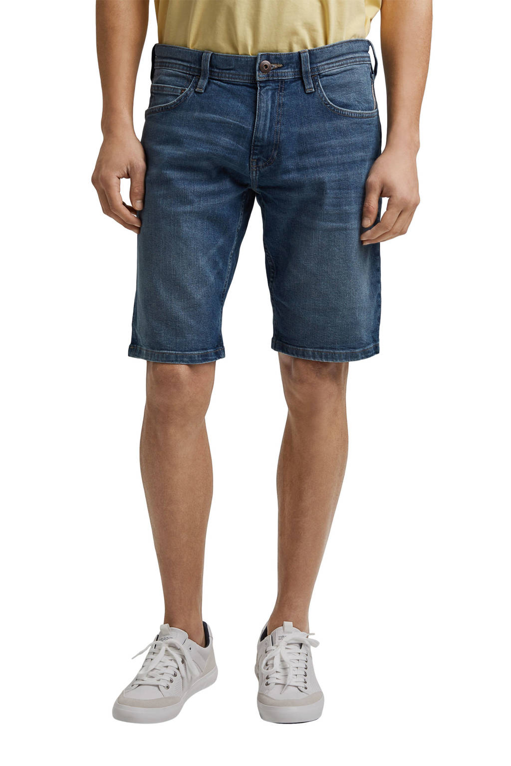 edc Men regular fit jeans short stonewashed, Stonewashed