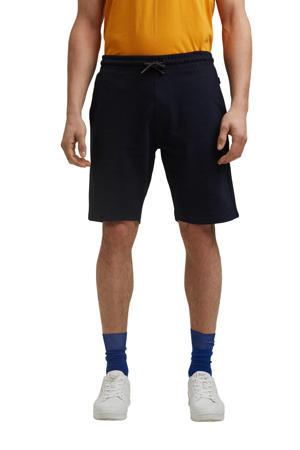 regular fit sweatshort van biologisch katoen donkerblauw
