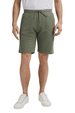 regular fit sweatshort van biologisch katoen groen
