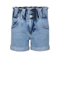 Jill & Mitch by Shoeby high waist regular fit jeans short Denim Paperpag blauw, Blauw