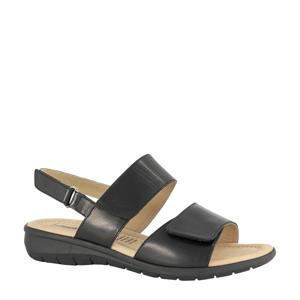 comfort leren sandalen zwart