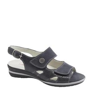 comfort leren sandalen donkerblauw