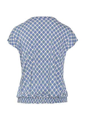 blouse met all over print bleu delphes