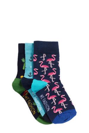 sokken - set van 3 multi
