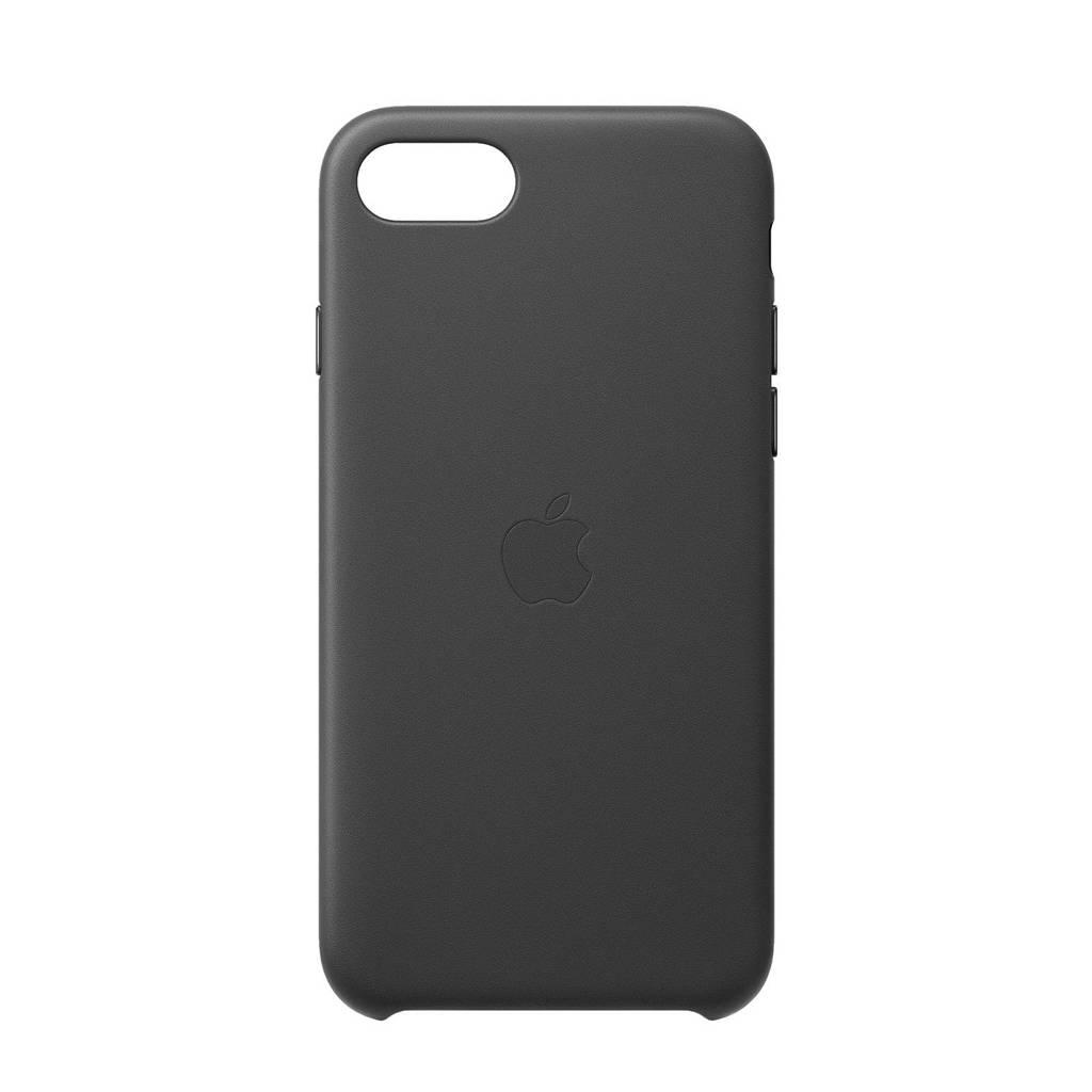 Apple iPhone SE Leathe leren telefoonhoesje iPhone SE (Zwart)