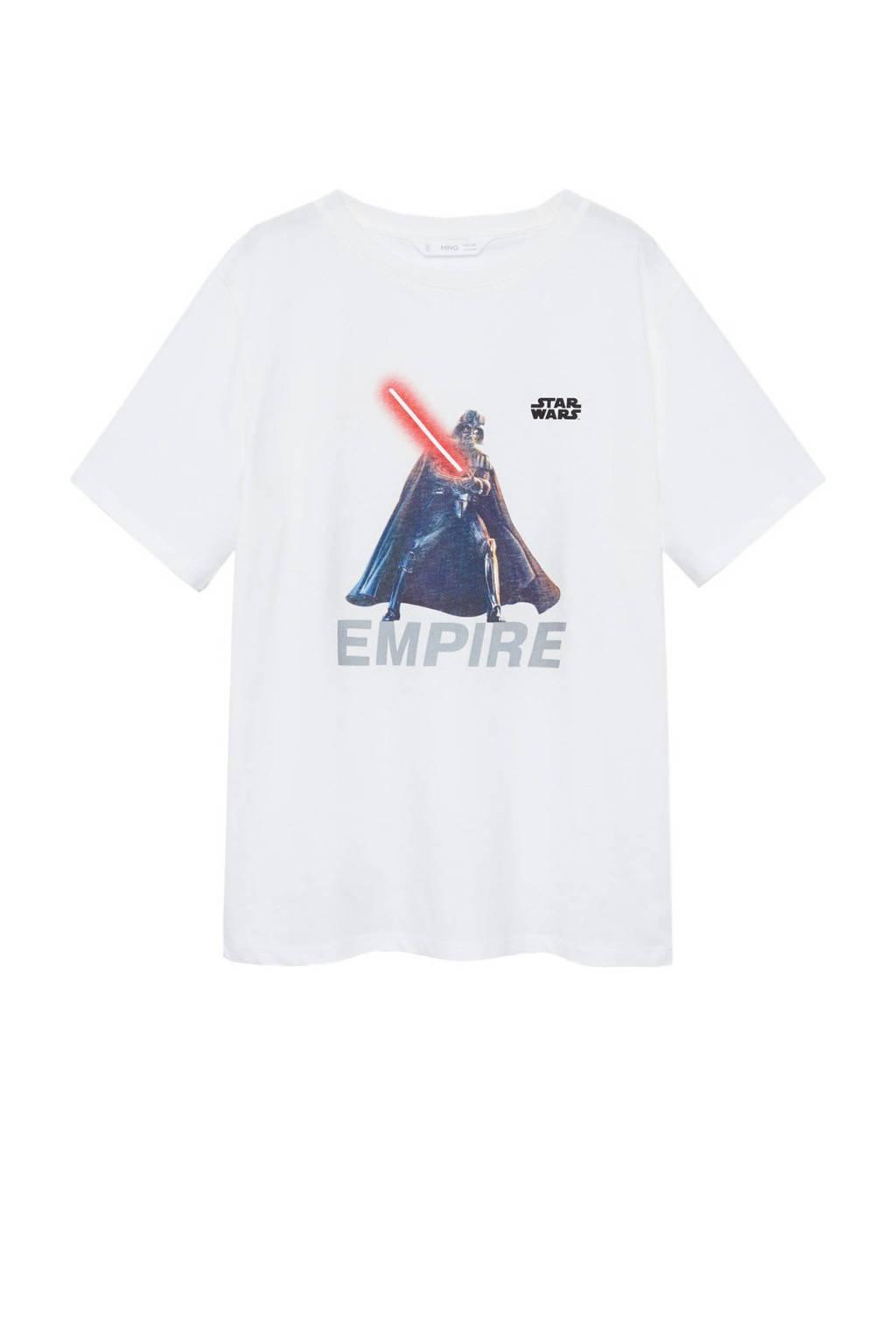 Mango Kids Star Wars T-shirt met printopdruk wit, Wit