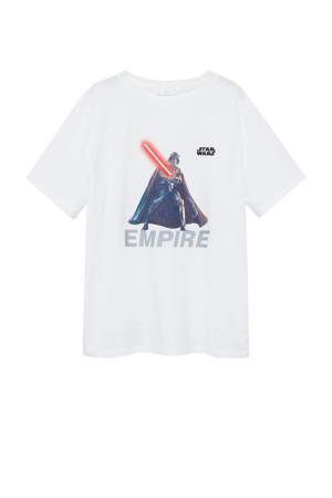 Star Wars T-shirt met printopdruk wit
