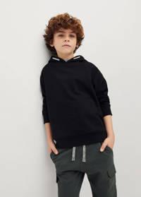 Mango Kids hoodie zwart, Zwart