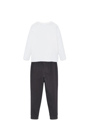 unisex pyjama Bugs Bunny antraciet/wit