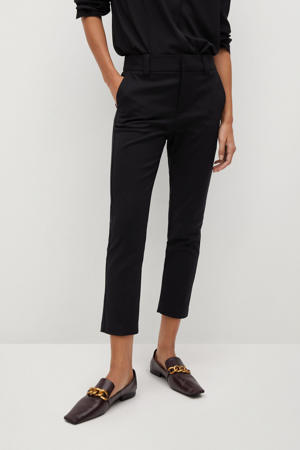 cropped slim fit pantalon zwart