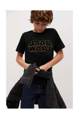 Star Wars T-shirt met printopdruk zwart