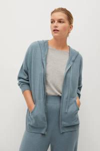 Violeta by Mango gebreid vest van gerecycled polyester grijsgroen, Grijsgroen
