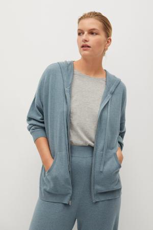 gebreid vest van gerecycled polyester grijsgroen