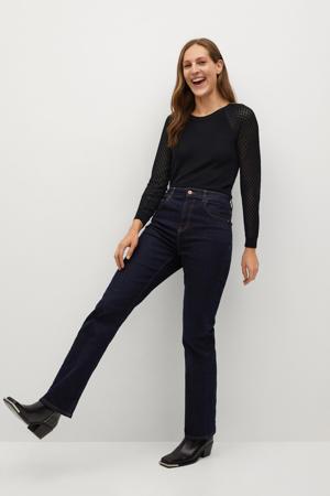 fijngebreide trui van gerecycled polyester zwart