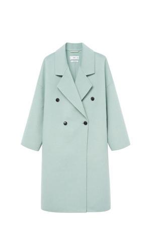 coat met wol mintgroen