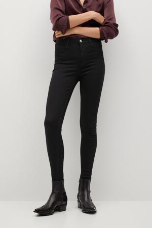 high waist skinny jegging black
