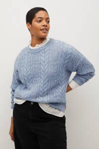 Violeta by Mango trui van gerecycled polyester lichtblauw, Lichtblauw