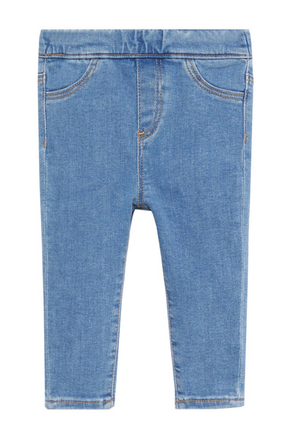 Mango Kids slim fit jeans lichtblauw, Lichtblauw