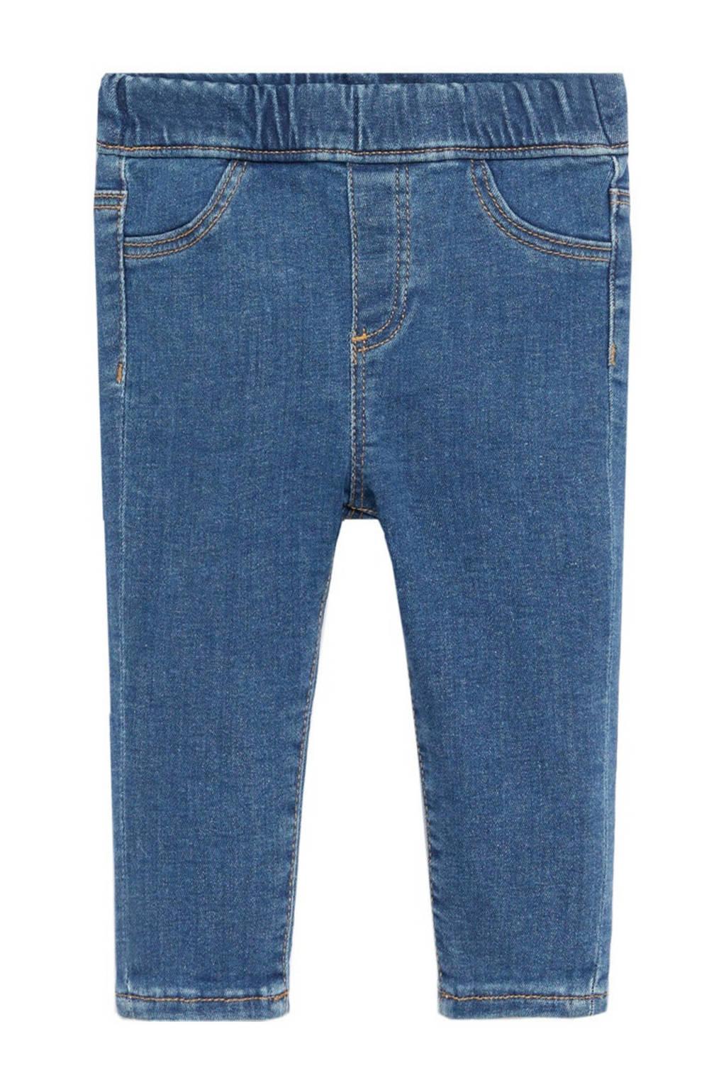 Mango Kids slim fit jeans blauw, Blauw