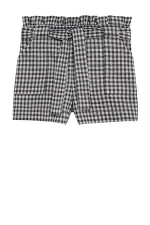 geruite short grijs/wit