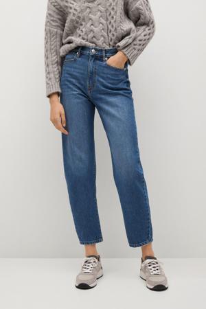 cropped high waist mom jeans blue