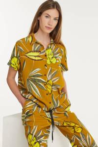Anna blouse met all over print bruin, Bruin