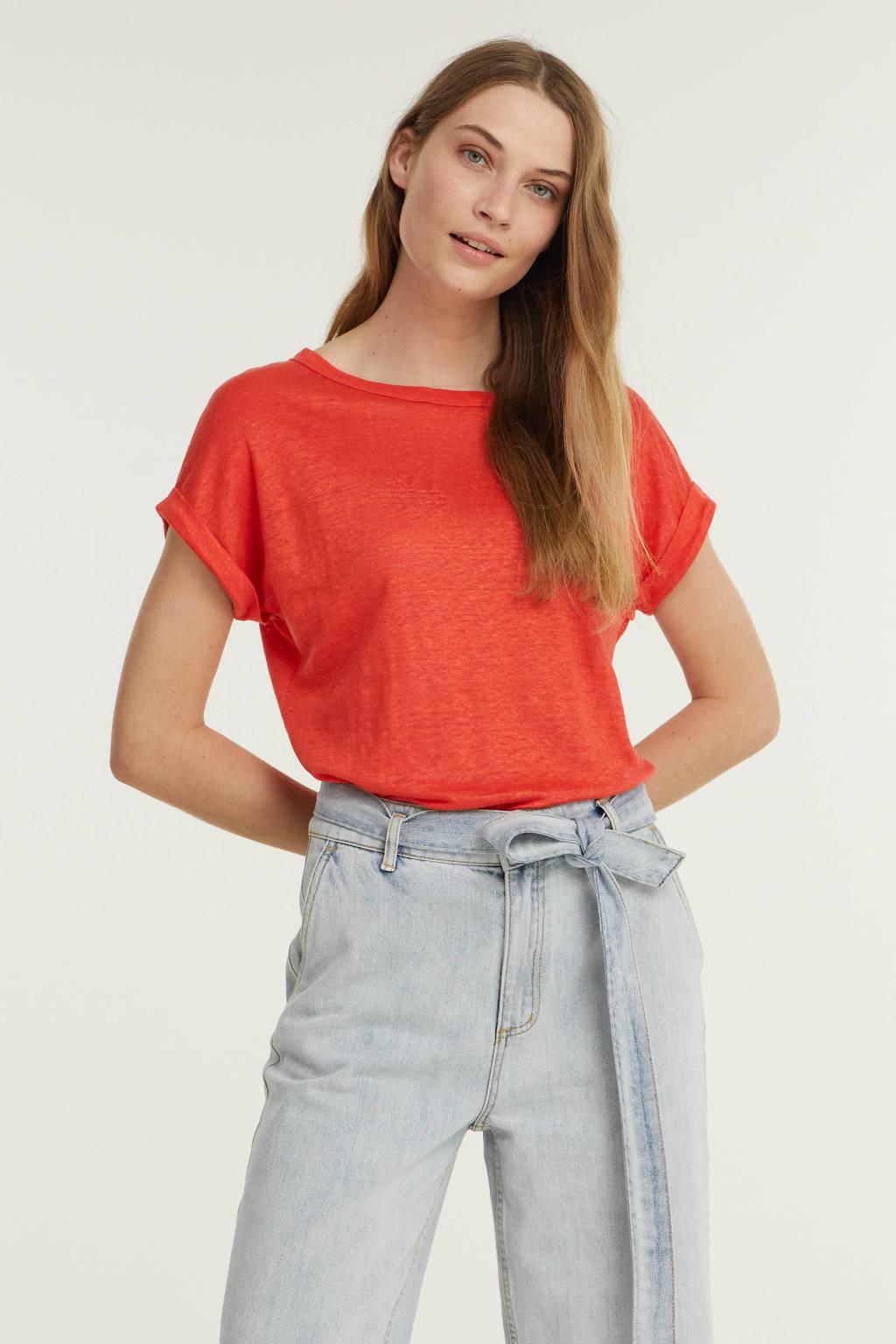 Anna T-shirt rood, Rood