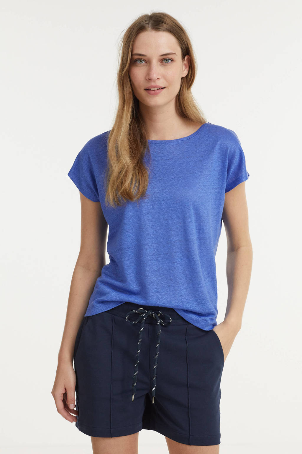Anna T-shirt blauw, Blauw
