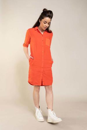 blousejurk rood/oranje