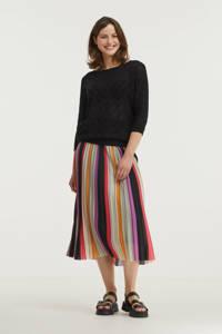 Anna semi-transparante trui zwart, Zwart
