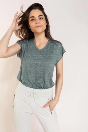 T-shirt grijsgroen