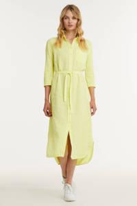 Anna blousejurk met ceintuur geel, Geel