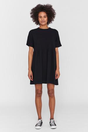 T-shirtjurk met biologisch katoen zwart