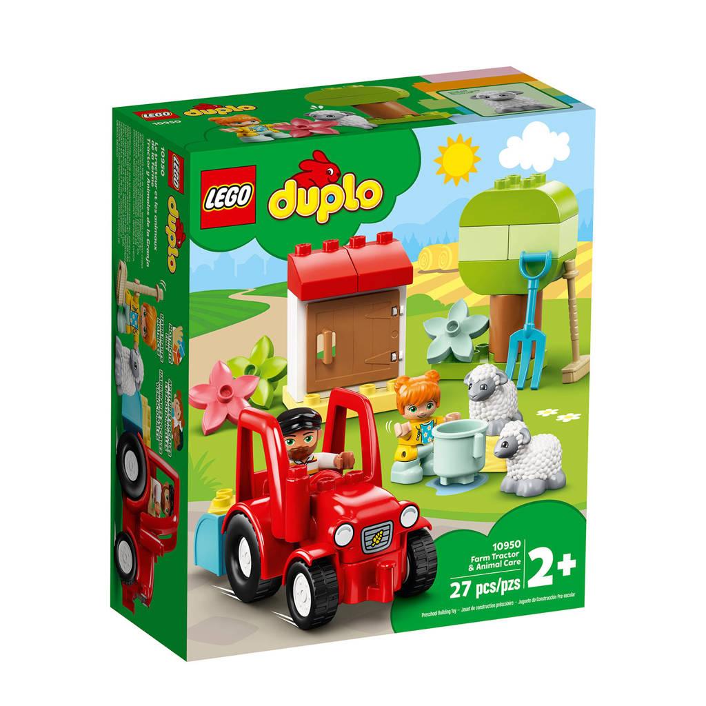 LEGO Duplo Landbouwtractor en Dieren Verzorgen 10950, Multi kleuren