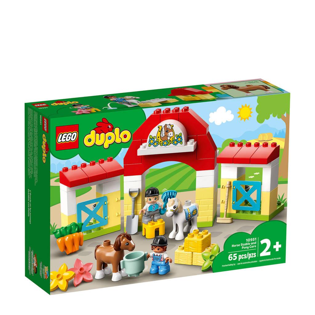 LEGO Duplo Paardenstal en Pony's Verzorgen 10951, Multi kleuren