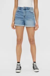 PIECES high waist wide leg jeans short Pacy light denim, Light denim