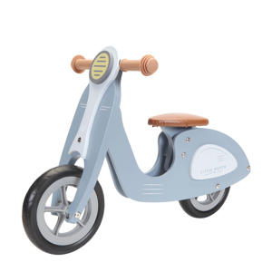 houten loopscooter blue