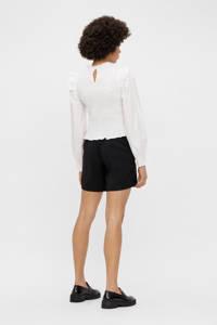 PIECES high waist loose fit short zwart, Zwart